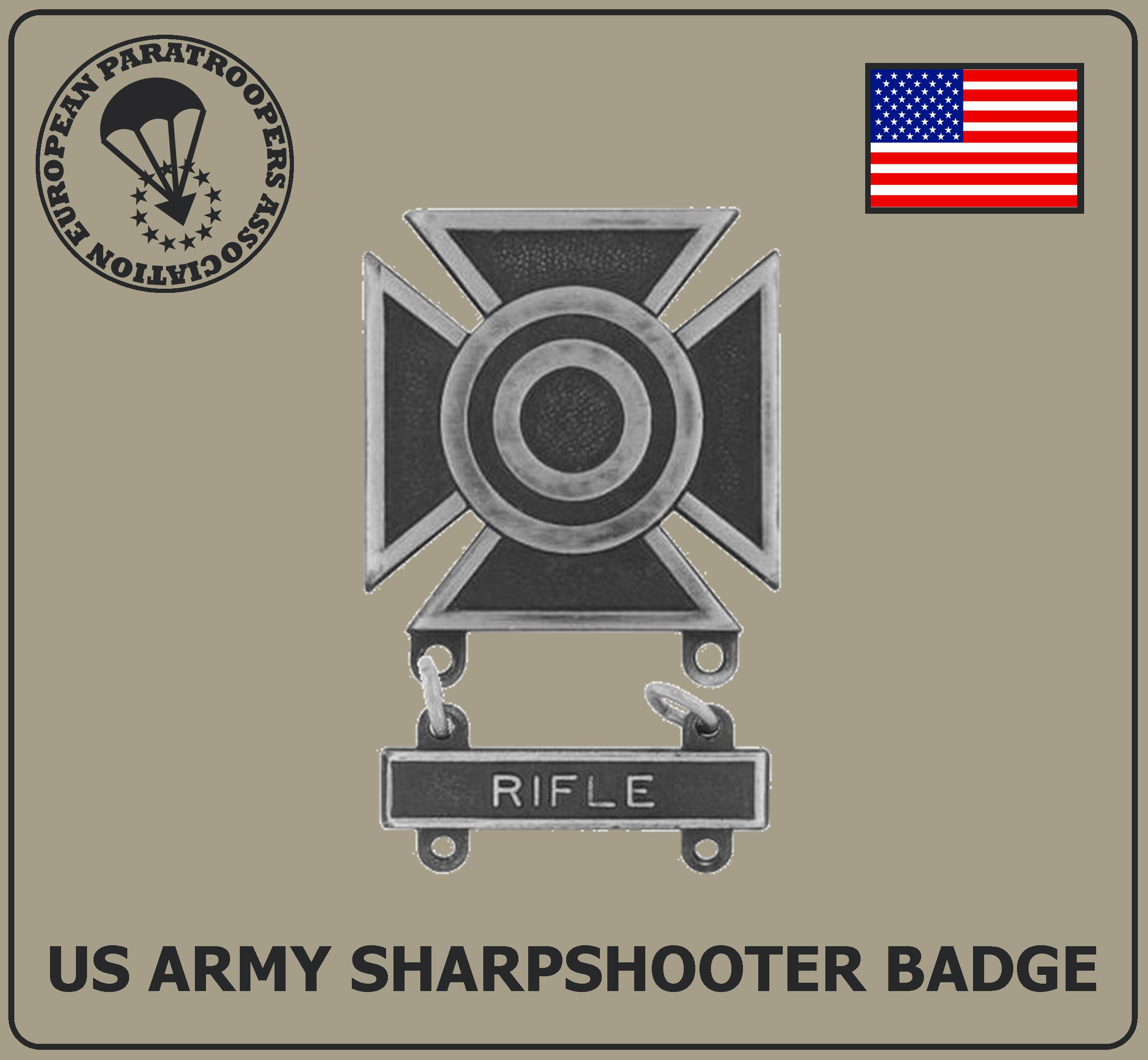 US ARMY SHARPSHOOTER BADGE R