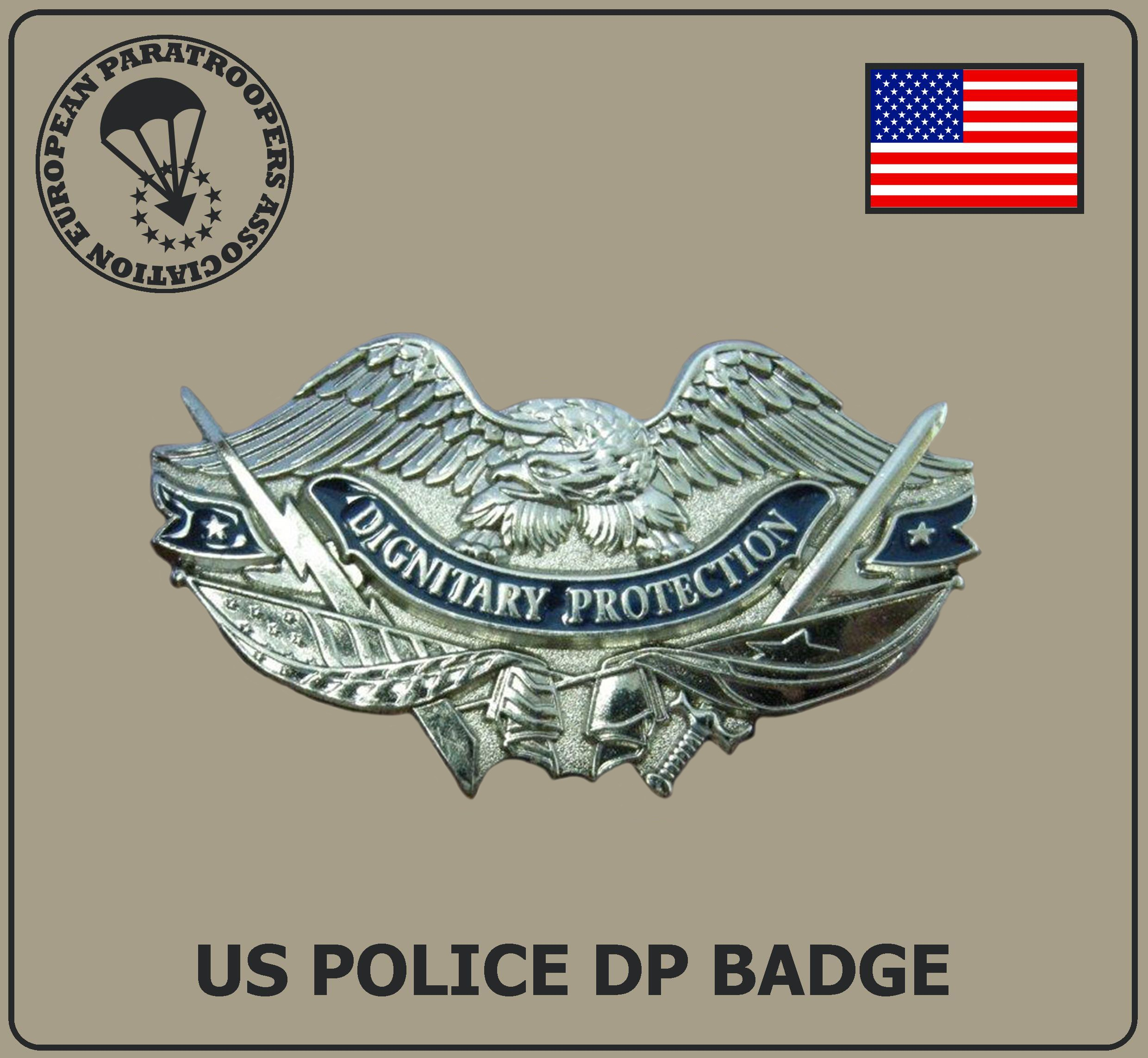 US POLICE DP BADGE