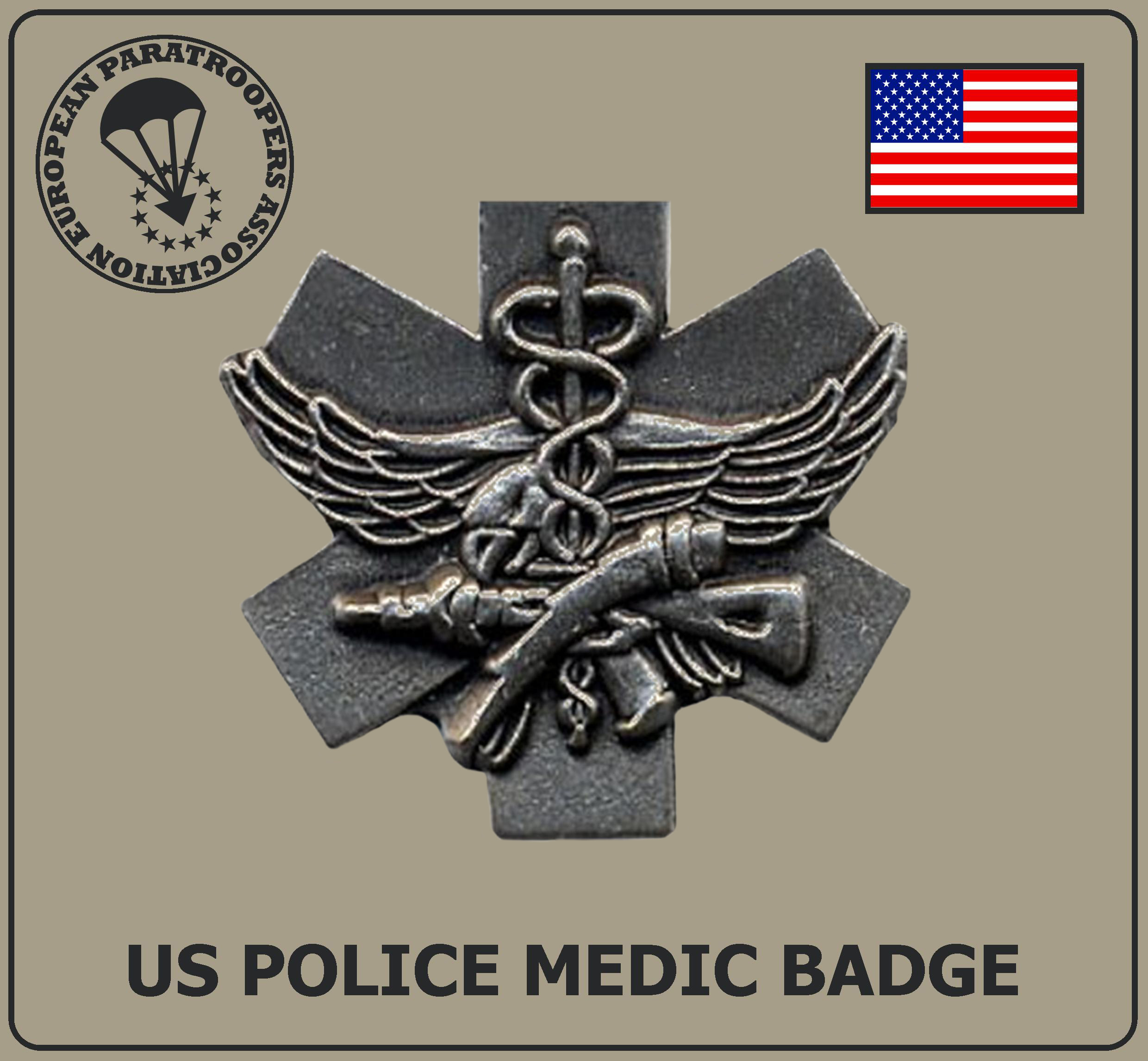 US POLICE MEDIC BADGE