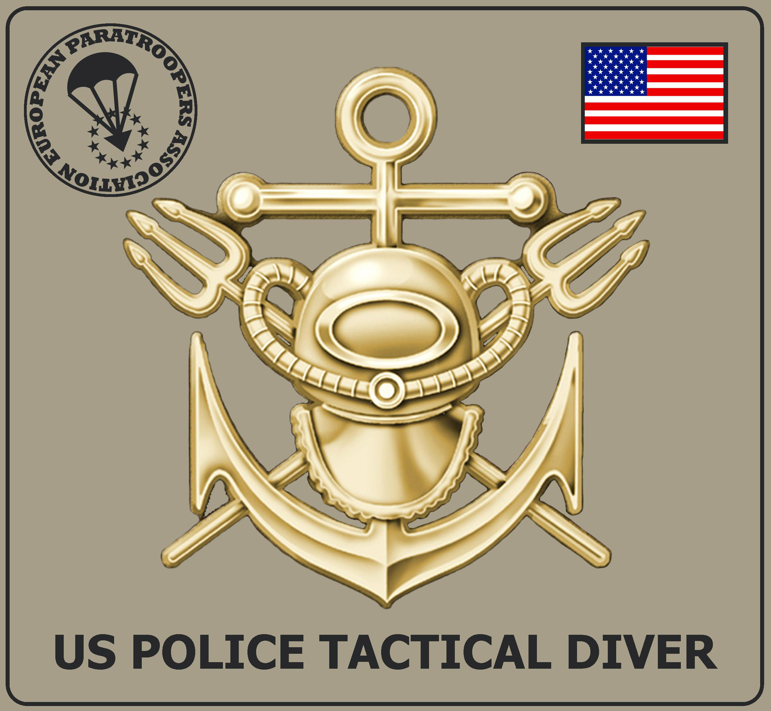 US POLICE TACTICAL DIVER BADGE