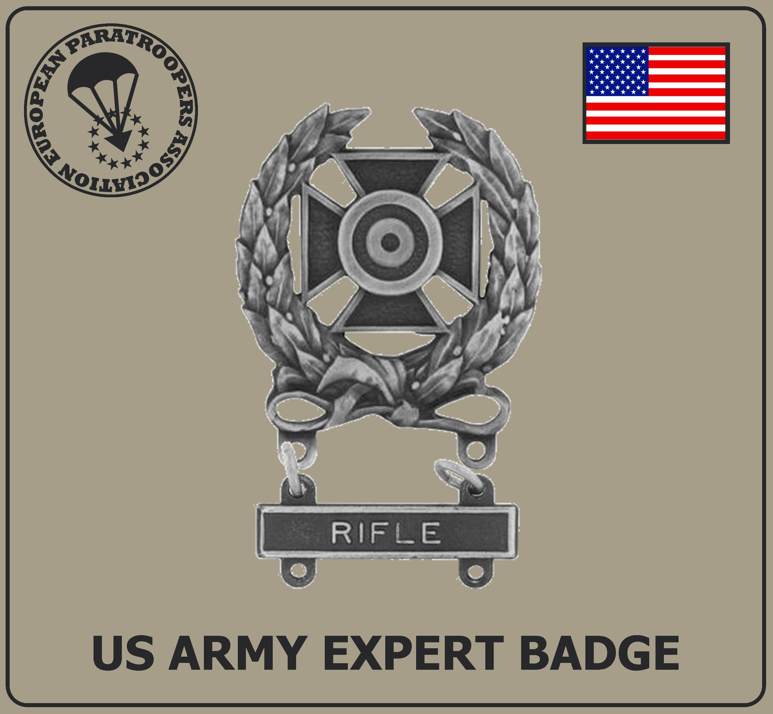 US ARMY EXPERT BADGE R