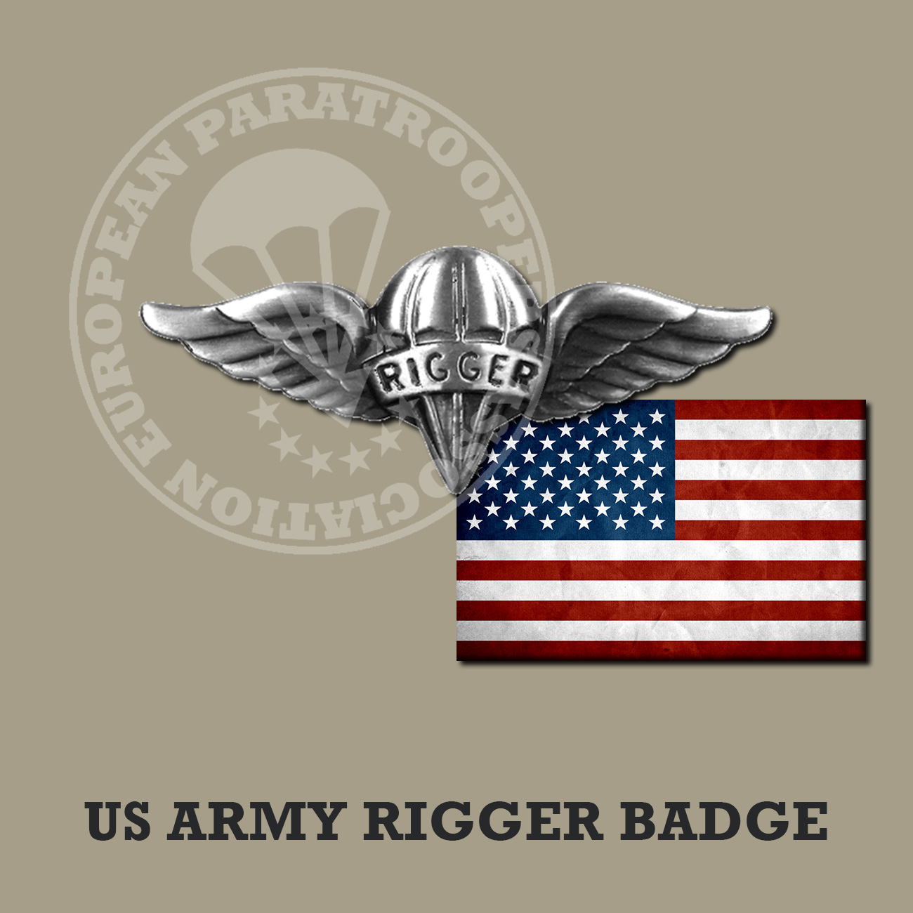 US ARMY RIGGER BADGE